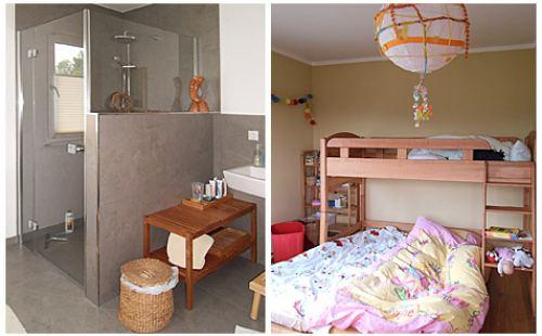 Dusche und Kinderschlafzimmer nach Feng Shui