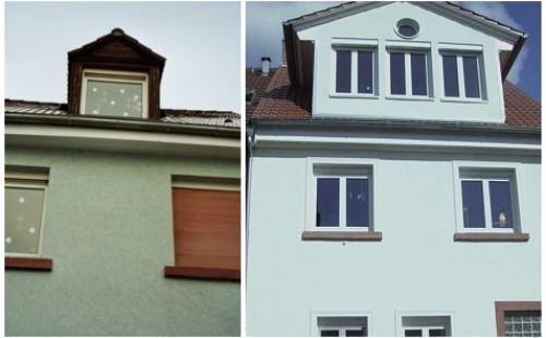 Hausfassade vor und nach der Feng Shui Beratung