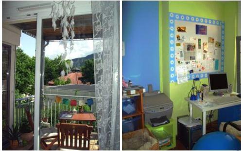 Terrasse und Arbeitsbereich nach Feng Shui