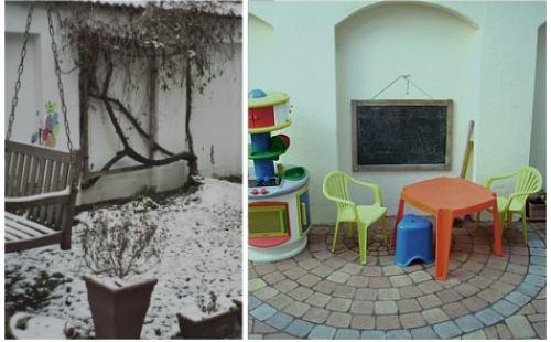 Kinderbereich vor und nach der Feng Shui Maßnahme